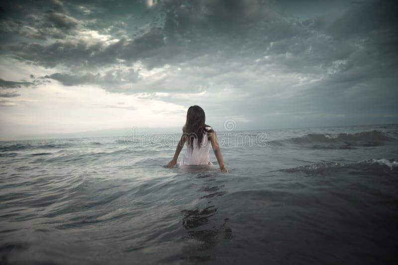 Creature in the sea stock photos