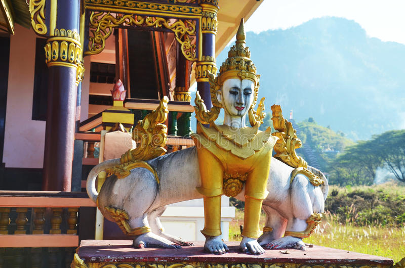 Download Creatures Of Myth And Legend In Tai Ta Ya Monastery Stock Image - Image of burma, angel: 42942069