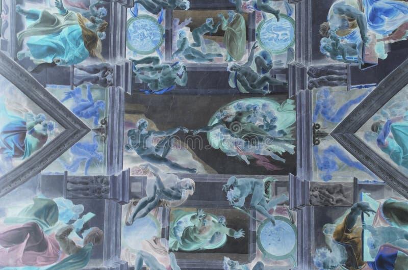 Creazione di Adam da Michelangelo fotografia stock libera da diritti