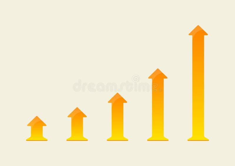 Crecer la carta de la flecha stock de ilustración