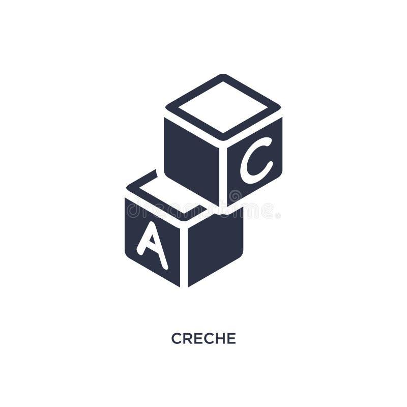 crechesymbol på vit bakgrund Enkel beståndsdelillustration från utbildningsbegrepp stock illustrationer