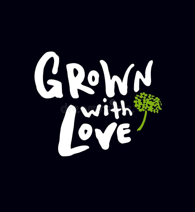 Crecido con amor ilustración del vector