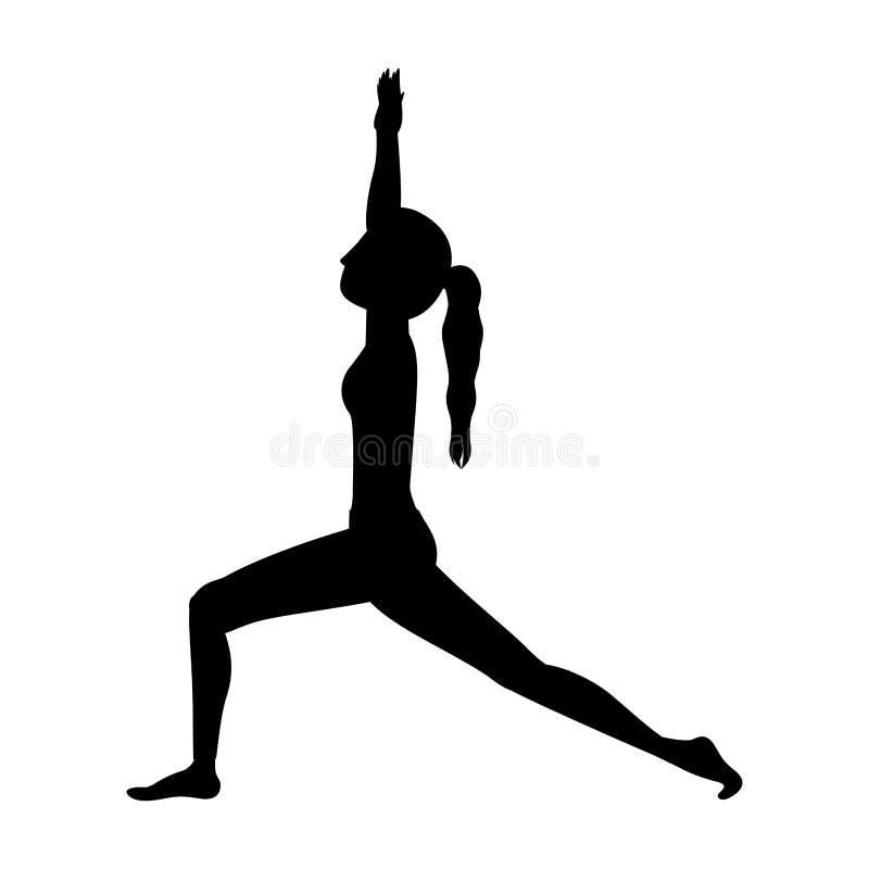 Creciente de la estocada de la yoga de la silueta alto libre illustration