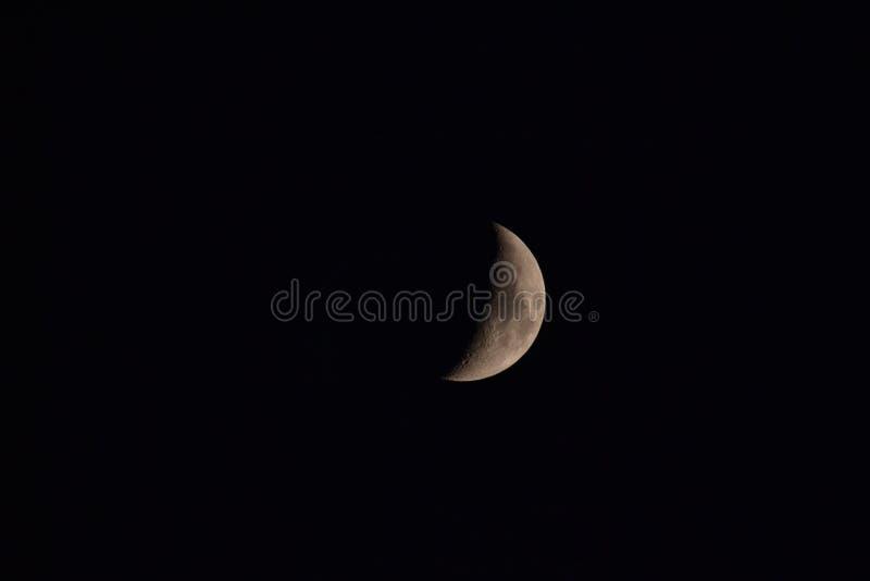 Creciente de la luna imagen de archivo