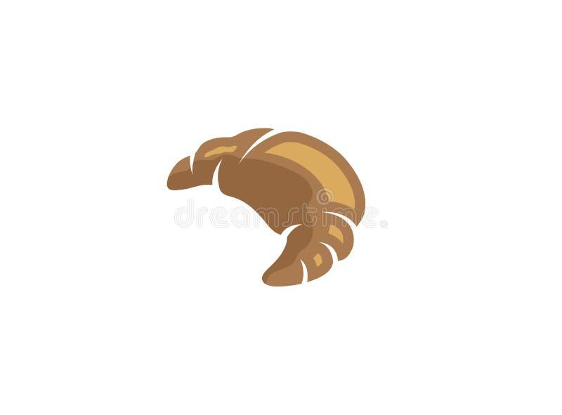 Creciente una mano del cruasán para el diseño del logotipo libre illustration