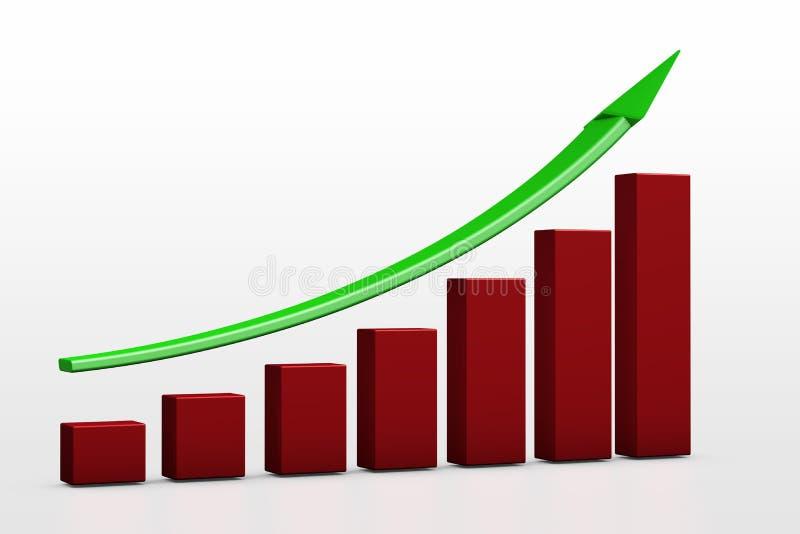Crecimiento chart ilustración del vector