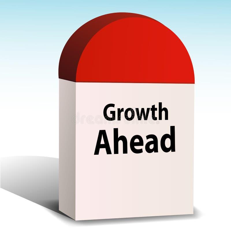 Crecimiento a continuación ilustración del vector