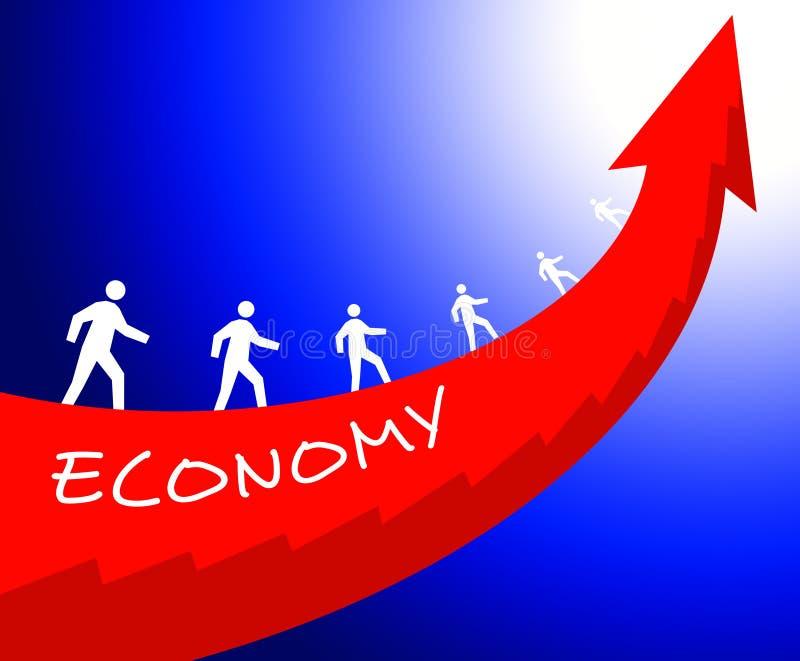 Crecimiento de la economía libre illustration