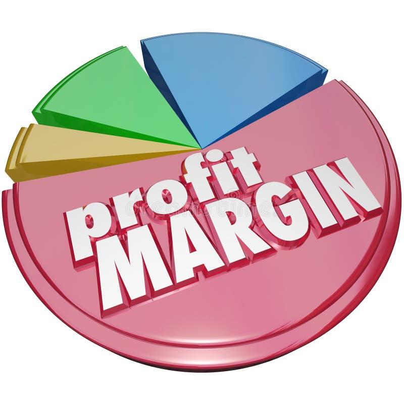 Crecimiento de los ingresos del dinero del gráfico de sectores del margen de beneficio ilustración del vector