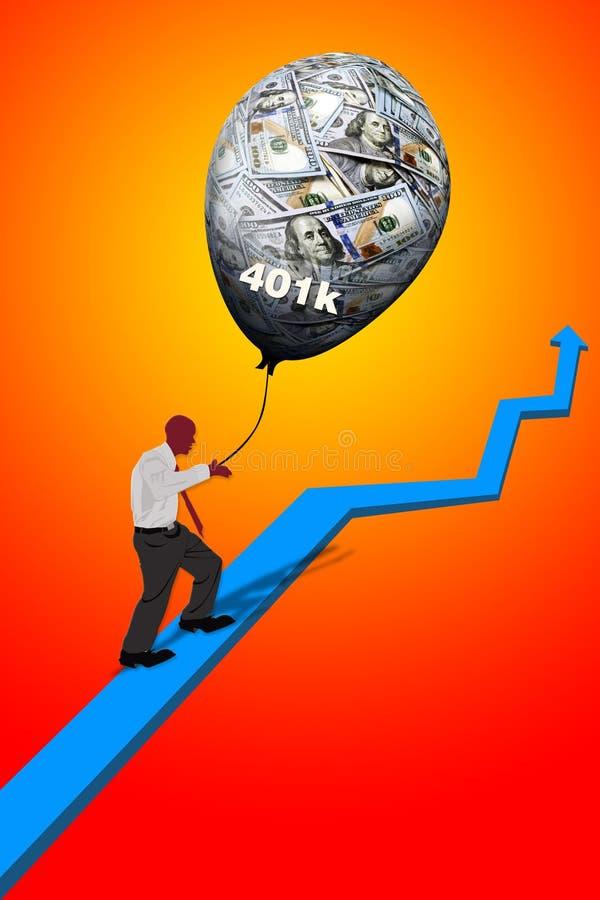 Crecimiento de su retiro 401K ilustración del vector