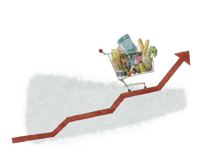 Crecimiento del carro de la compra libre illustration