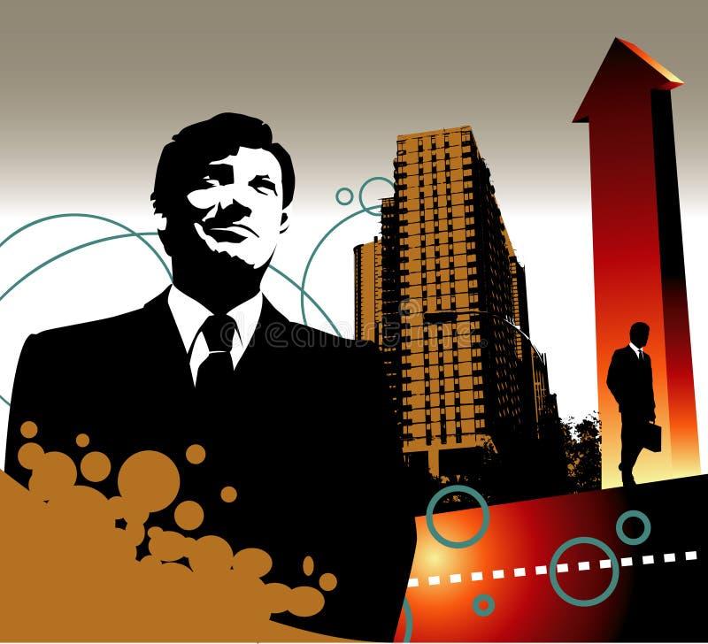 Crecimiento del hombre de negocios ilustración del vector