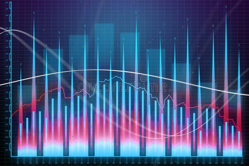 Crecimiento del mercado, finanzas y concepto del beneficio stock de ilustración