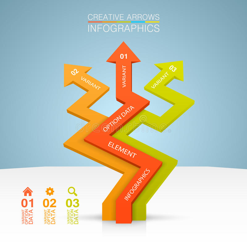 Crecimiento del negocio de las flechas stock de ilustración