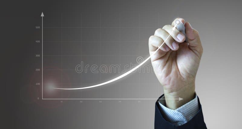 Crecimiento del negocio del dibujo y éxito rápido ilustración del vector