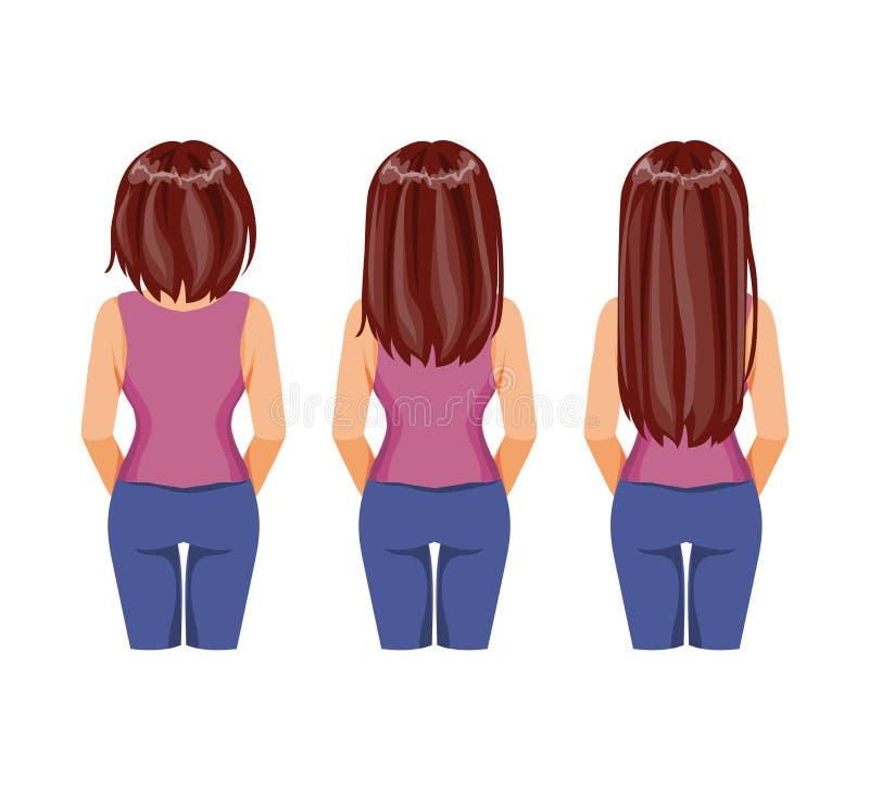 Crecimiento del pelo ilustración del vector