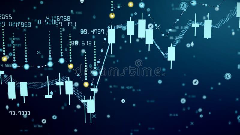 Crecimiento financiero del diagrama en el mercado disparatado, mostrando beneficio del crecimiento y del aumento libre illustration