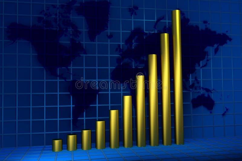 Crecimiento global ilustración del vector