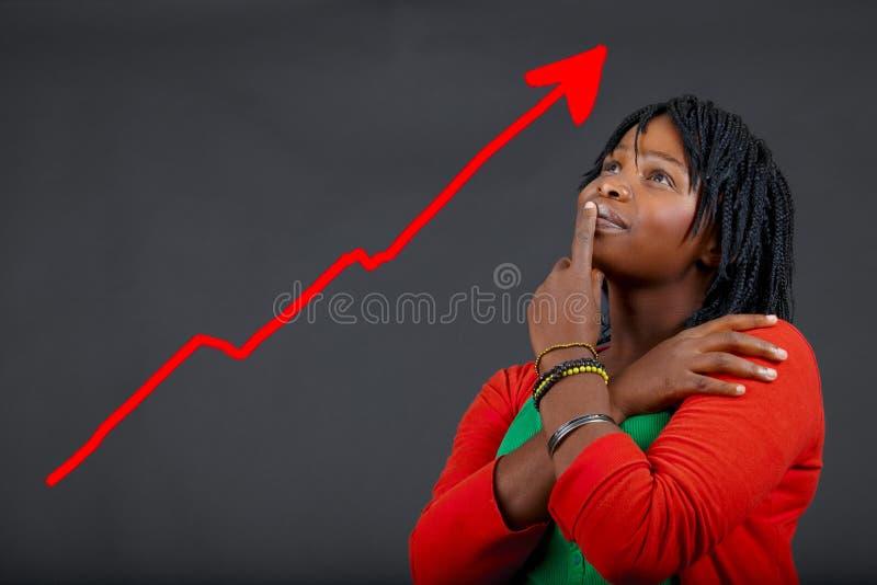 Crecimiento personal de la mujer africana imagen de archivo libre de regalías