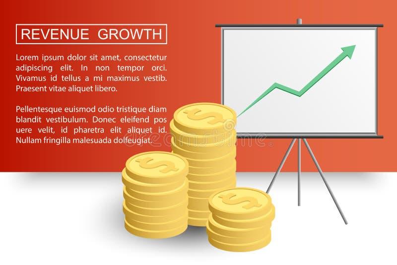 Crecimiento profit2-01 de los ingresos ilustración del vector