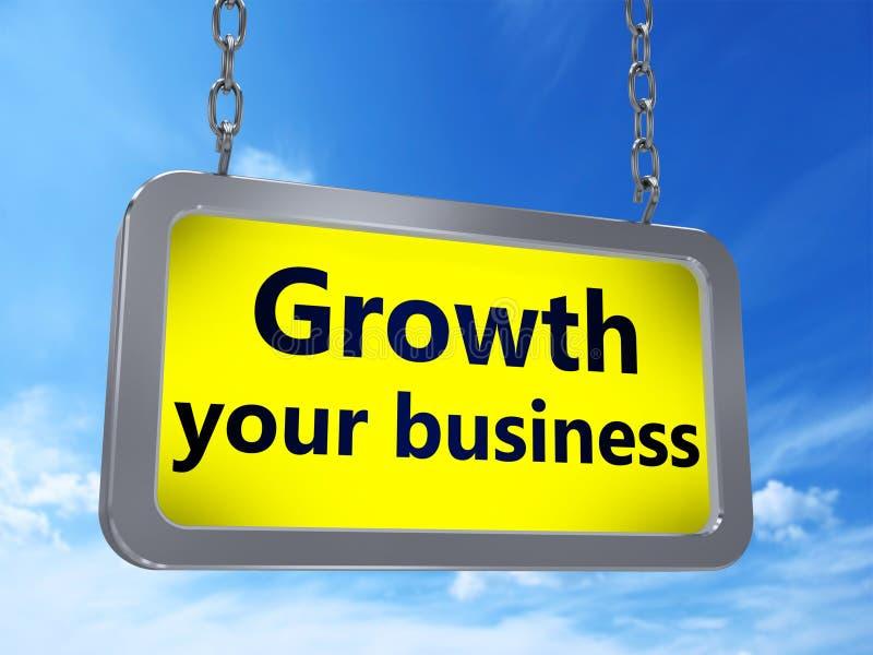 Crecimiento su negocio en la cartelera stock de ilustración