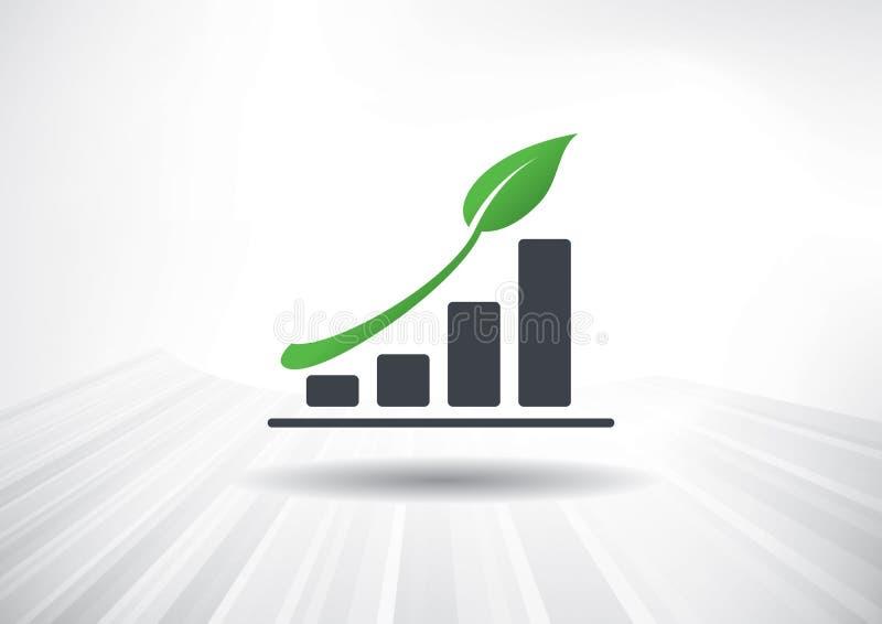 Crecimiento verde ilustración del vector