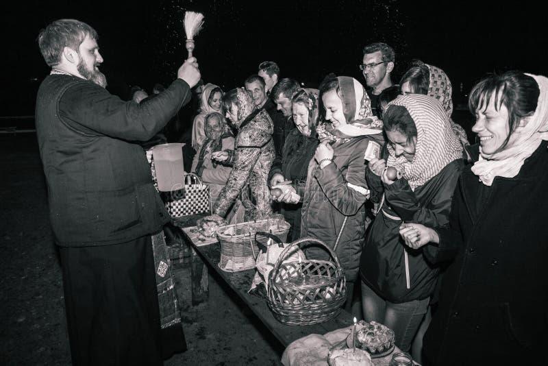 Credenti molto felici Dobrush, Bielorussia immagini stock