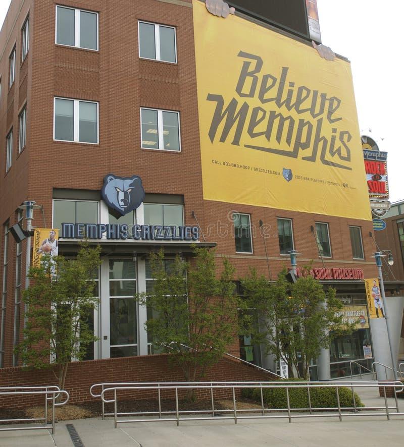 Credi Memphis Grizzlies Sign fotografia stock libera da diritti
