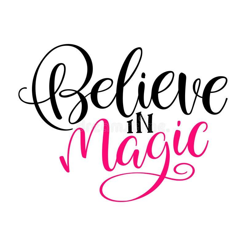 Credi nella magia royalty illustrazione gratis