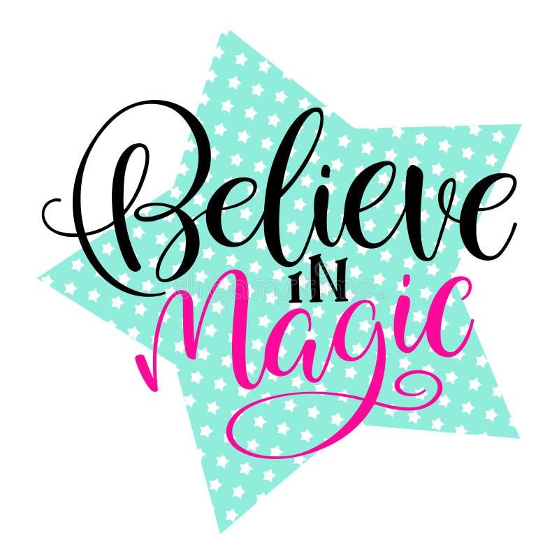 Credi nella magia illustrazione vettoriale