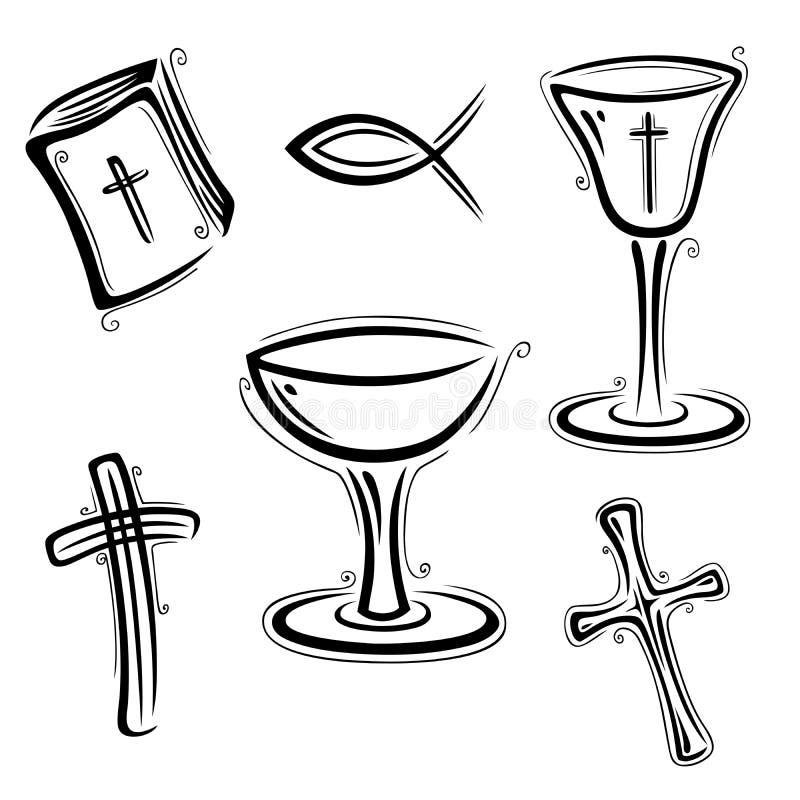 Credi, religione illustrazione di stock