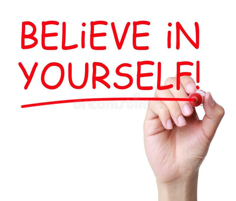 Credi in voi stesso immagine stock libera da diritti