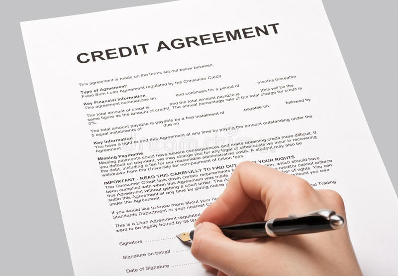 Credit Agreement Stock Photo Image Of Card Home House