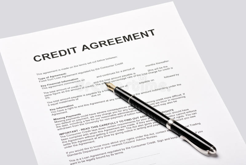 Credit Agreement Stock Photos - Image: 25008813