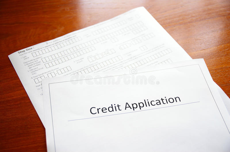 Download Credit application stock image. Image of finance, application - 23504413