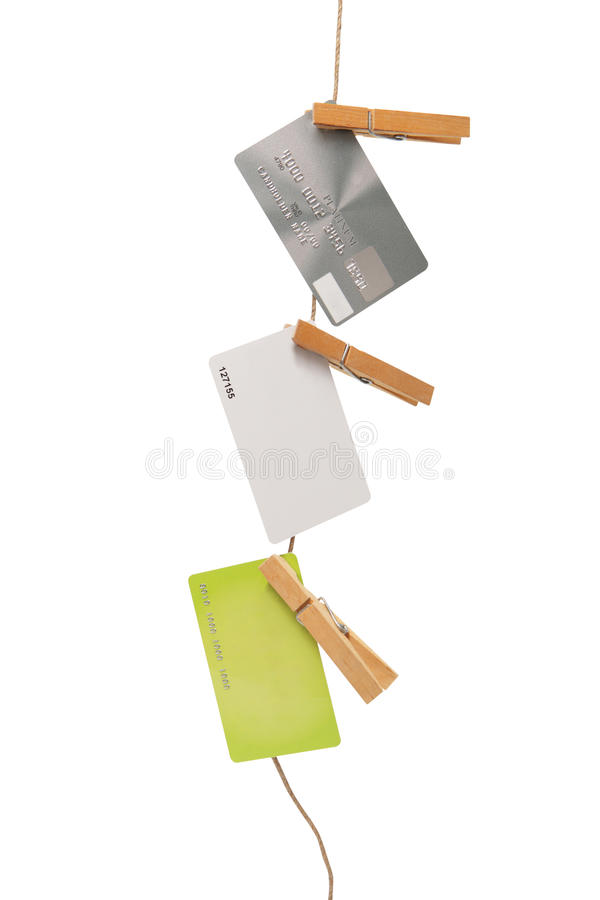 Credit or bank cards royalty free stock images