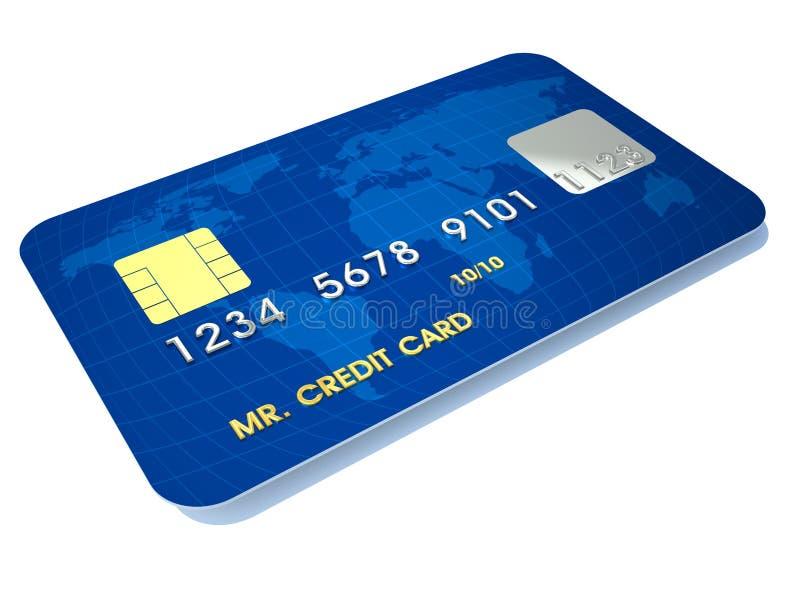 Credit card. 3d render illustration of conceptual credit card over white vector illustration