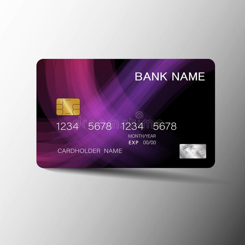 Modern credit card template design. With inspiration from abstract. royalty free illustration