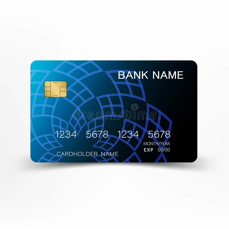 Realistic detailed credit cards. With inspiration from the abstract blue and black colo. Realistic detailed credit cards. With inspiration from the abstract royalty free illustration