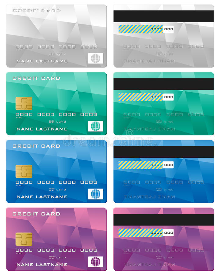 Credit card. Set on a white background