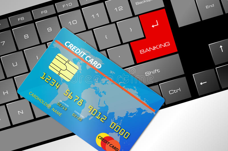 Download Credit card stock illustration. Illustration of commerce - 28642297