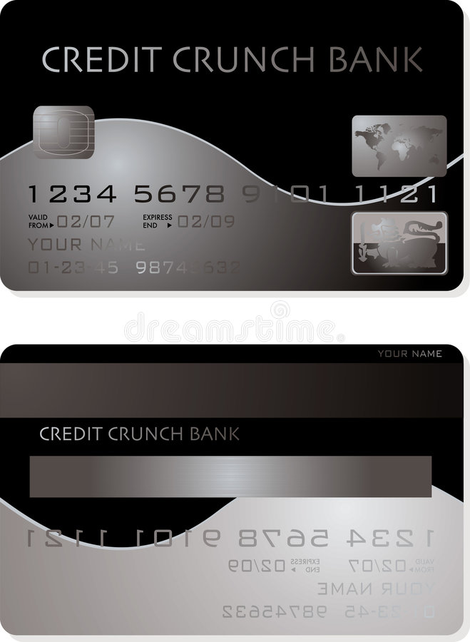 Credit card. Illustration of a credit card showing the problems in the financial market