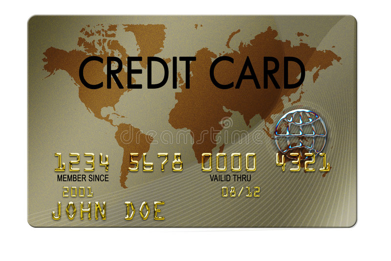 Credit Card. Typical plastic credit card with expiration date stock illustration