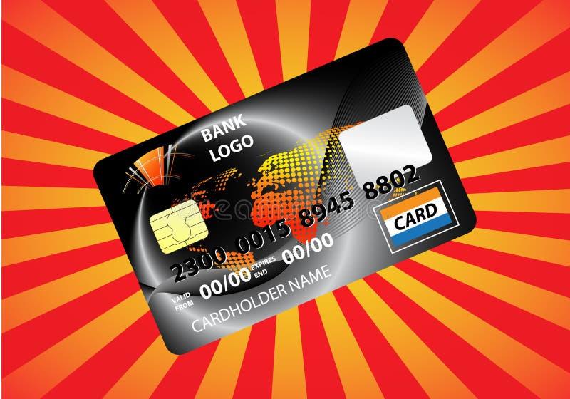 Credit card. Vector illustration of credit card royalty free illustration
