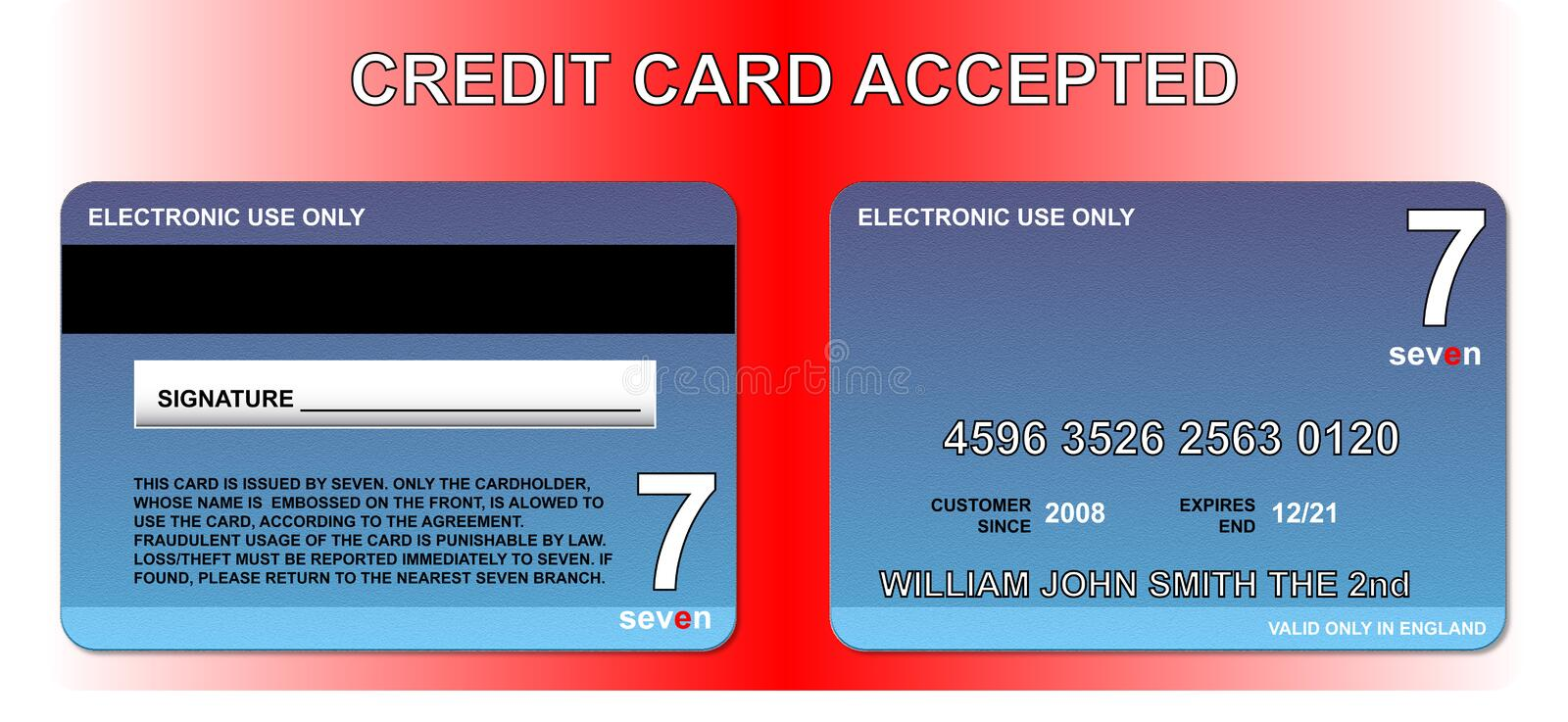 Download Credit card stock vector. Image of customer, business - 7207728