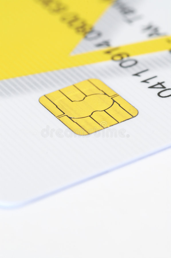 Credit card. On white, shallow dof stock photography