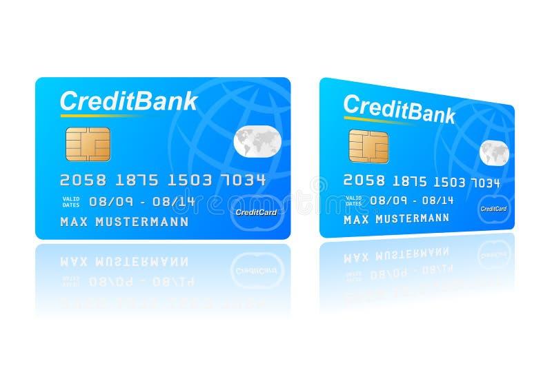 Credit card. Vector illustration of a credit card