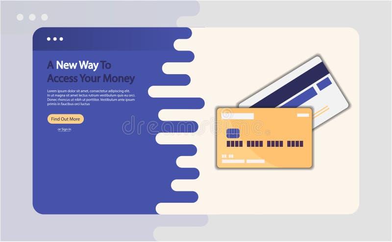 Credit card advertising vector illustration royalty free illustration