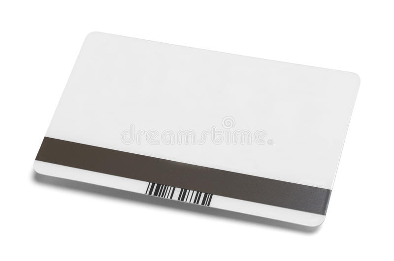 Credit Card Back Side. Blank Credit Card Isolated on White Background stock photos