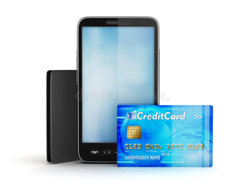 Download Credit Card, Cellular Phone And Wallet Stock Photo - Image of communication, pocketbook: 39509562